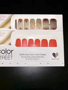 Color Street Nail Strips Happy Go Plucky & Fire Island Flame HTF Retired Thanks