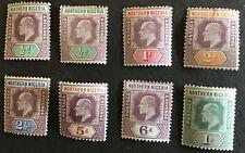 Northern Nigeria Edward VII Short Set 1/2d to 1/- Mint SG10/6 C/V £45.00 2018.