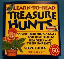 Learn-To-Read Treasure Hunts Skill-Building Games For Beginners [Ages 4-7]