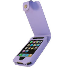 Púrpura Pu Cuero Funda Protectora Para Apple Iphone 3g 3gs De 8 Gb 16 Gb 32 Gb Titular