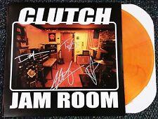 CLUTCH BAND SIGNED JAM ROOM LP ORANGE VINYL RECORD ALBUM NEIL FALLON W/COA