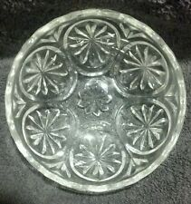 Mint Medallion Anchor Hocking Clear Glass Star and Cameo Dessert Dip Berry bowl