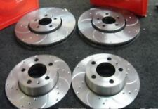 VW GOLF MK4 AUDI A3 SEAT LEON FRONT REAR DRILLED AND CURVED GROOVED BRAKE DISCS
