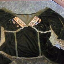 Vintage boho velvet peasant corset top