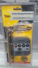 Yale British Standard Deadlock 76mm Brass 5 Lever Max Security Lock