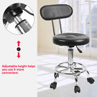 PU Hairdressing Styling Chair Adjustable Height Barber Chair Black