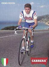 CYCLISME carte cycliste REMO ROSSI équipe CARRERA Jeans
