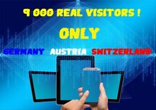 TRAFIC WEB TRAFFIC ONLINE WEBSITE 9000 REAL VISITORS GERMANY AUSTRIA SWITZERLAND