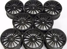 8 x 26mm 1/10 Touring Car Wheels (Losi 10mm Hex) Black On Road
