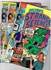 🚚 Dilton's Strange Science # 2,3 & 4 Archie Series 1989 3 book lot in Fine-