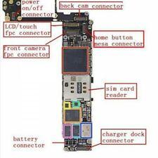 iPhone 6s Connecteur FPC Bouton Home sur Carte Mère
