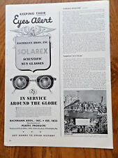 1943 Bachmann Bros Solarex Scientific Sun Glasses Ad