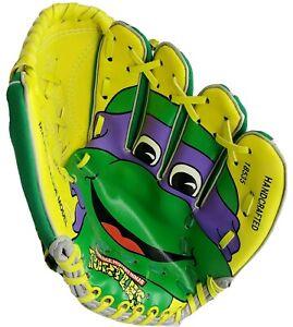 Vintage TMNT 1990 Baseball Glove DONNIE w/Tags Teenage Mutant Ninja Turtles *NOS