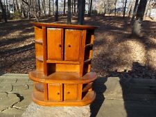 RARE 1930s? MAPLE WOOD DOLL HOUSE HUGE KITCHEN HUTCH w DOORS - PLEASE HELP ID