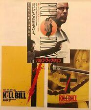 Pulp Fiction Kill Bill Quentin Tarantino John Travolta Japanese Chirashi Flyer