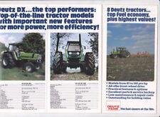 1981 DEUTZ FAHR Tractor Range US Market Small 12p Brochure DX  and 07 Series