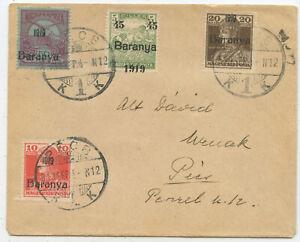 Ungarn Orts Brief Pecs 1919
