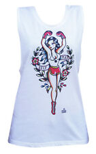 Mujer Negro Newmarket Arte Co. Self-Made Racerback Depósito Top Blanco S-Xl