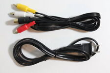 NEW Lot AV Audio Video RCA Cable & AC Power Supply Cord for Sega Saturn SS