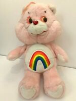 "VTG 1983 KENNER ORIGINAL CARE BEAR Large 16"" CHEER Rainbow Teddy Plush Toy"