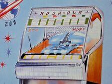 ROCK-OLA 200 HI-FI JUKEBOX -- Drive-In Restaurant Music - OLD SIGN .. Dated 1993