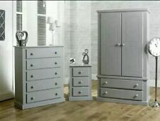 SHAFTESBURY GREY BEDROOM PACK NO FLAT PACKS NO SELF ASSEMBLY