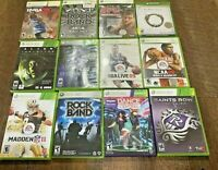 Xbox 360 Games Lot 12 Saints Row Madden Resident Evil 6 Rock Band