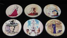 "Set of 6 ROSANNA 8"" DESSERT Plates ~ Points of Interest PARIS FRANCE ~ In BOX"