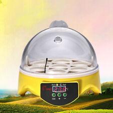 Mini Egg Incubator Hatcher w/ Temperature Control Digital Poultry Hatching US