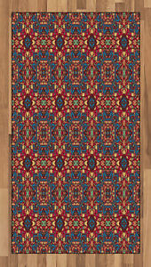Ethnic Vintage Area Rug Flat Woven Accent Rug Home Decoration 2 Sizes