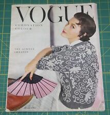 June Vogue 1953 Rare Vintage Vanity Fair Fashion Design Collection Magazine