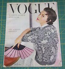 June Vogue 1953 Rare Vintage Vanity Fair Fashion Design Collection Magazine