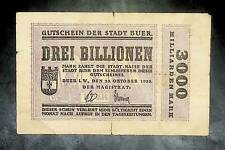 1923 Germany BUER  3 Trillion / 3.000.000.000.000 Mark Banknote