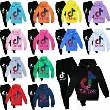 Kids Boys Girls Tik Tok Long Sleeve Hoodies Tracksuits Sportswear Multicolor UK