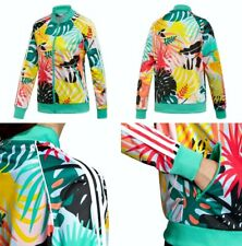 Adidas SST Graphic Track Top Women's Medium Multi Color Tropical FH7991