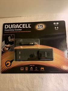 Duracell Powerstrip Inverter 175 Watts 871451 Laptops Tablets Smartphones New