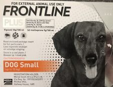 Frontline Plus 3 Months Supply For Small Dogs 0-22lbs (0-10kg) By Merial ~ New!
