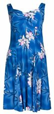 Two Palms Womens Midnight Orchid Empire Princess Flare Sundress