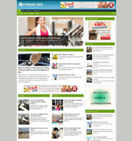 FITNESS ADVICE WEBSITE FOR SALE WITH ARTICLES AFFILIATE STORE + FREE HOSTING