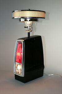1966-67 Muscle Car Tail Light Table Air Cleaner Lamp Black 66LCBLK Wheel Unique