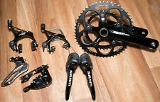 TIDY FULLY WORKING SRAM APEX DOUBLE TAP 10 SPEED 50/34t ROAD BIKE GROUP SET