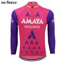 Vintage Team Seguros Retro Cycling Jersey Long Sleeve