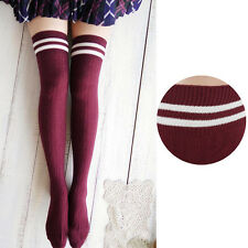 College Wind Thigh High Socks Stockings Over The Knee Girls Womens