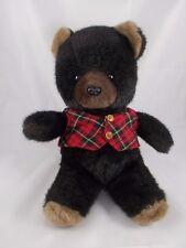 Mattel Emotions Black Bear Plush #G1155 1984