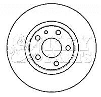 2x Brake Discs Pair Vented fits FIAT SCUDO 220 1.6 Front 03 to 06 220A2.000 Set