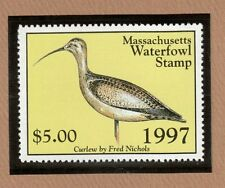 MA24 - Massachusetts State Duck Stamp.  Single. MNH. OG.