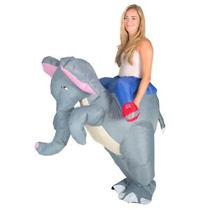 Adult Funny Inflatable Blow Up Elephant Costume Outfit Suit Halloween One Size