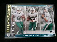 2017 Panini Playoff Flea Flicker 1st Down/99 #11 Jarvis Landry Jay Ajayi Card