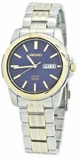 Seiko Solar SNE502 Blue Dial Stainless Steel Men's Watch