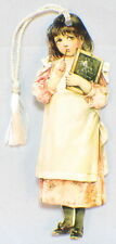 Victorian Paper Bookmark With String Tassel Naughty School Girl